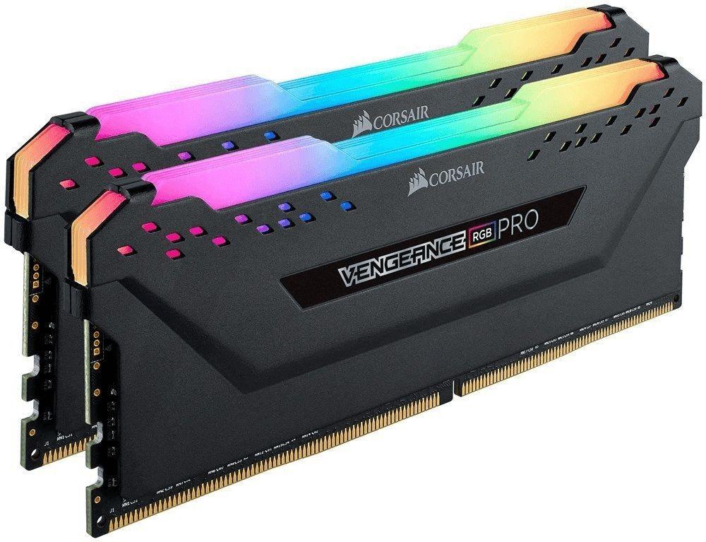 Corsair Vengeance RGB PRO 16GB (2x8GB) DDR4-RAM 3200MHz CL16 XMP 2.0 Enthusiast RGB LED-Beleuchtung Speicherkit - schwarz