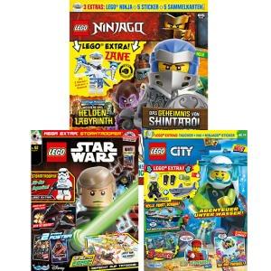 LEGO Magazine (mit Extras) im Jahresabo mit nochmal mehr Rabatt: LEGO Ninjago für 30,50 € - LEGO City und LEGO Star Wars für 28,16 €