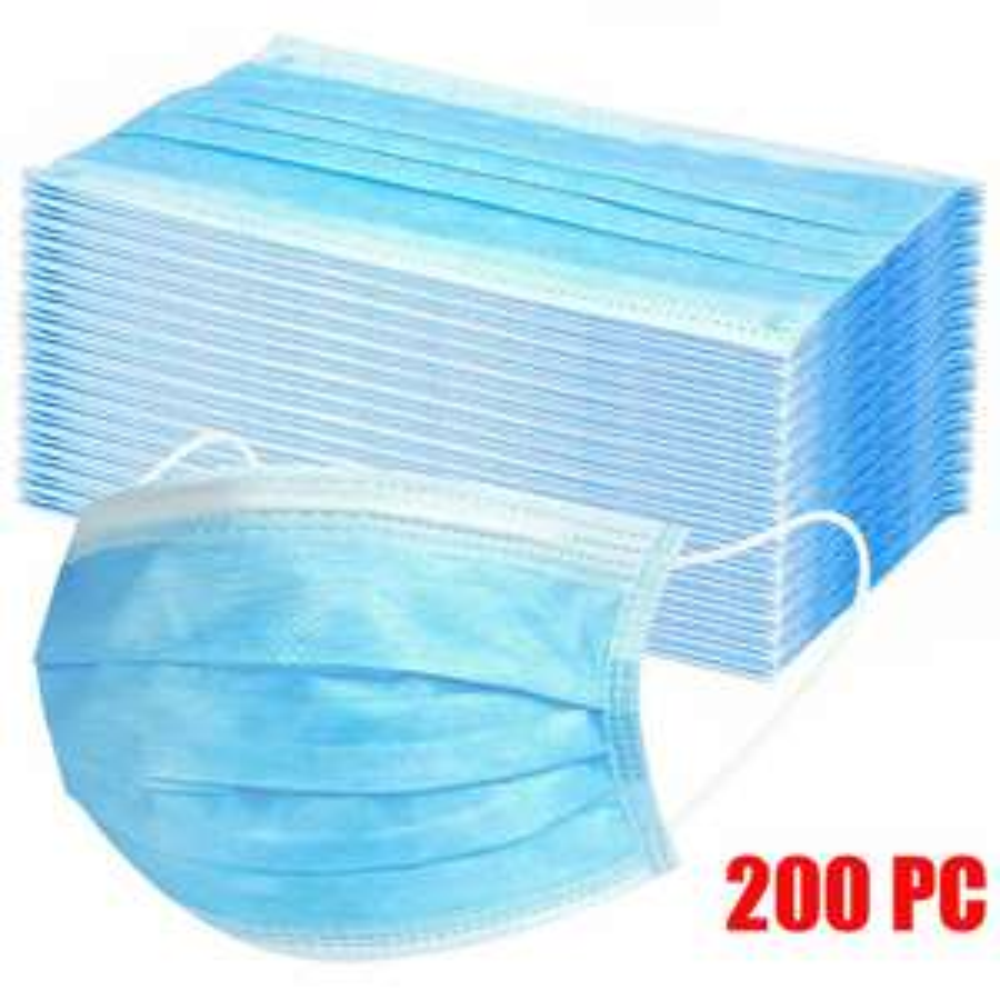 200 x Einweg-Gesichtsmasken