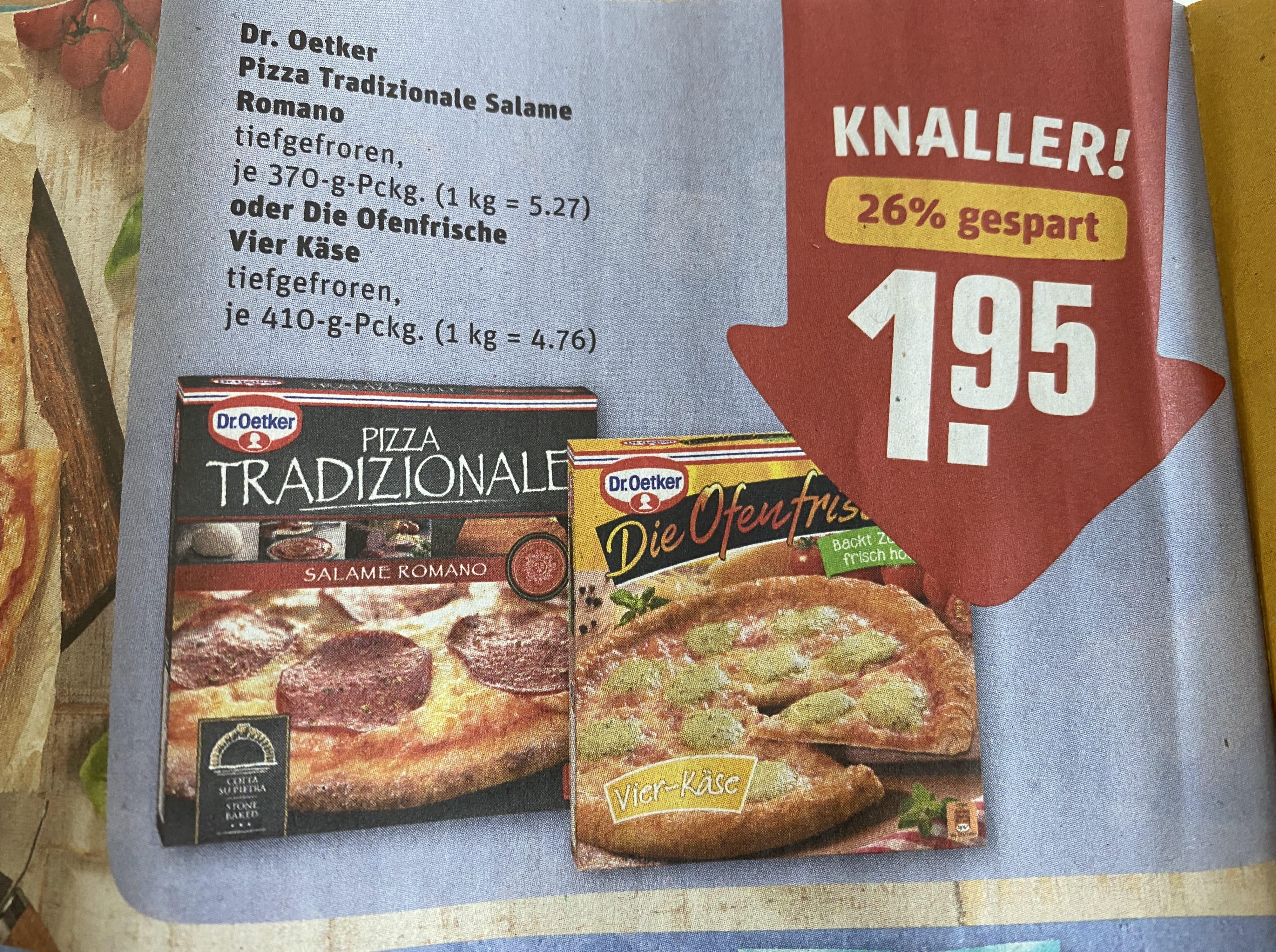Dr. Oetker Traditionale und Die Ofenfrische bei Rewe im Angebot!