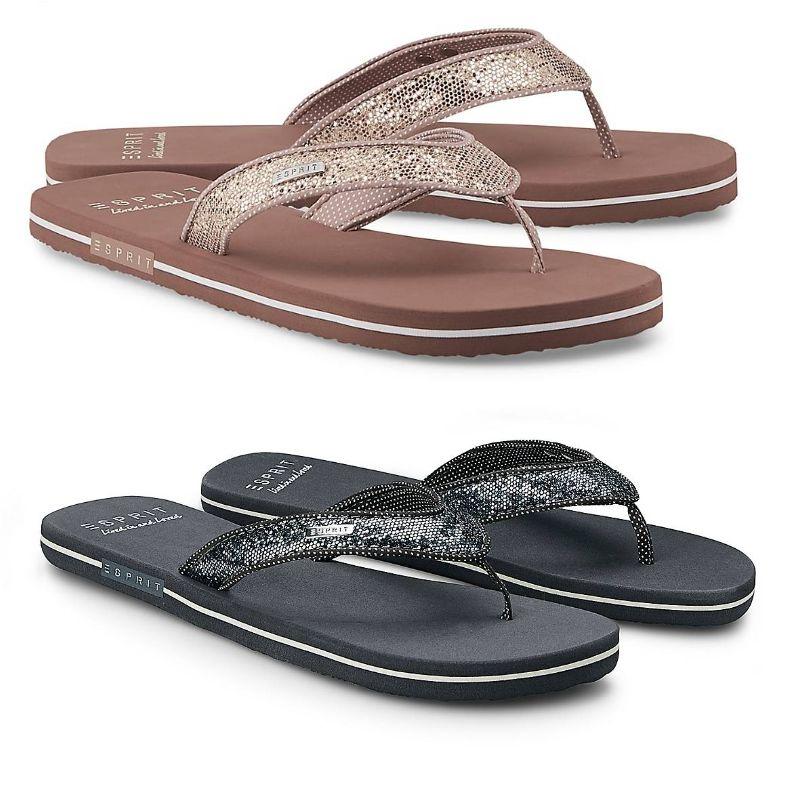 Esprit Beach-Sandal GLITTER, erhältlich in 4 Farben und vielen Größen