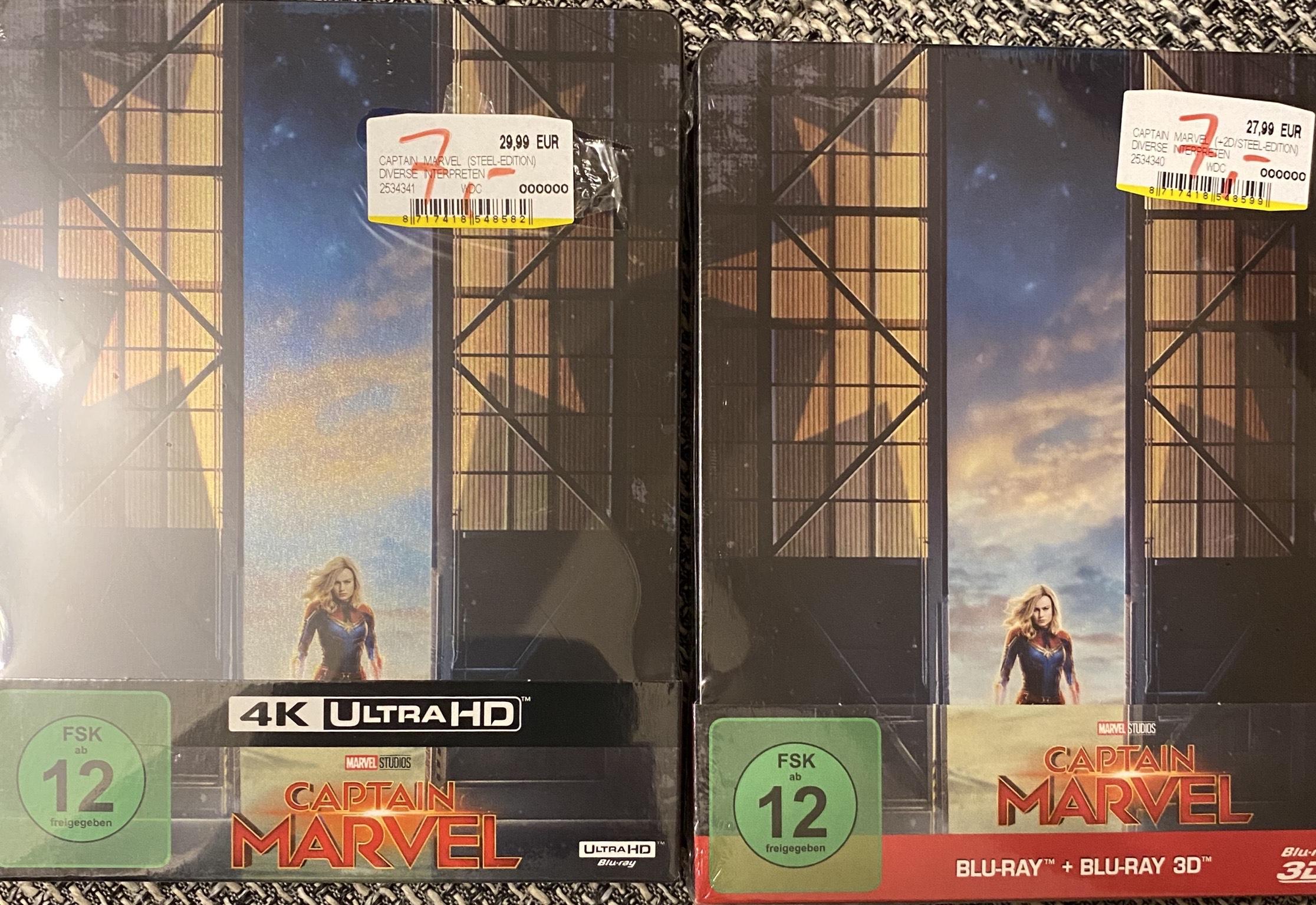 Lokal Duisburg Captain Marvel Steelbook 3D / 4K
