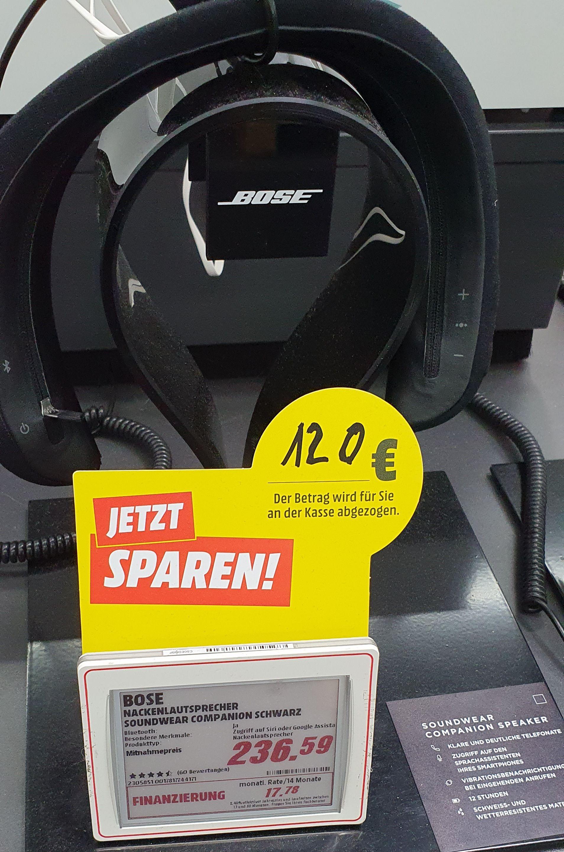 Bose SoundWear Companion Lautsprecher, schwarz [MediaMarkt Münster]