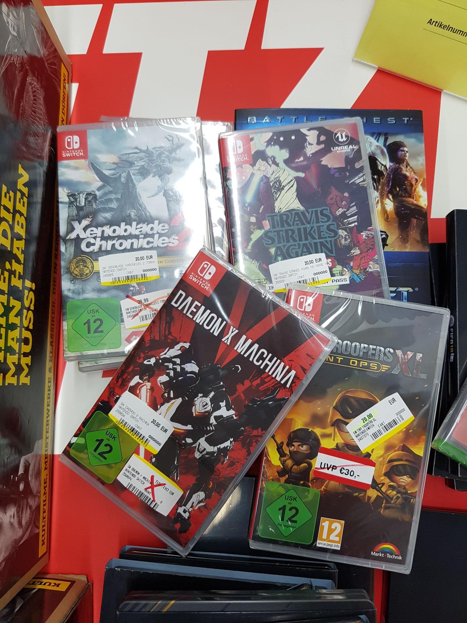 [Lokal Media Markt Marburg] Nintendo Switch Xenoblade Chronicles 2: Torna - The Golden Country für 20 Euro, PS4 Borderlands 3 für 5 Euro