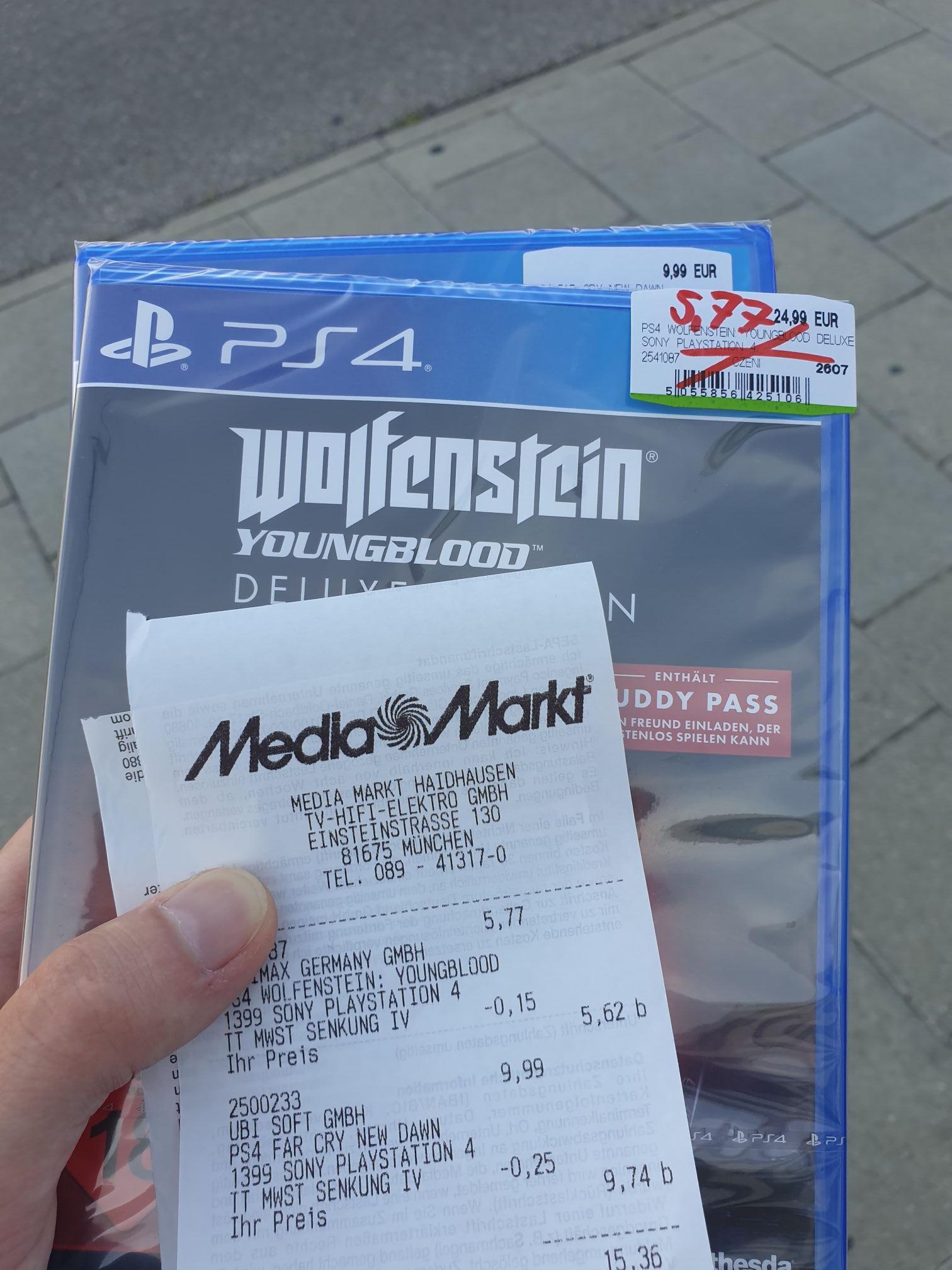Wolfenstein Youngblood Deluxe PS4 (Lokal München Media Markt das Einstein / Leuchtenbergring)