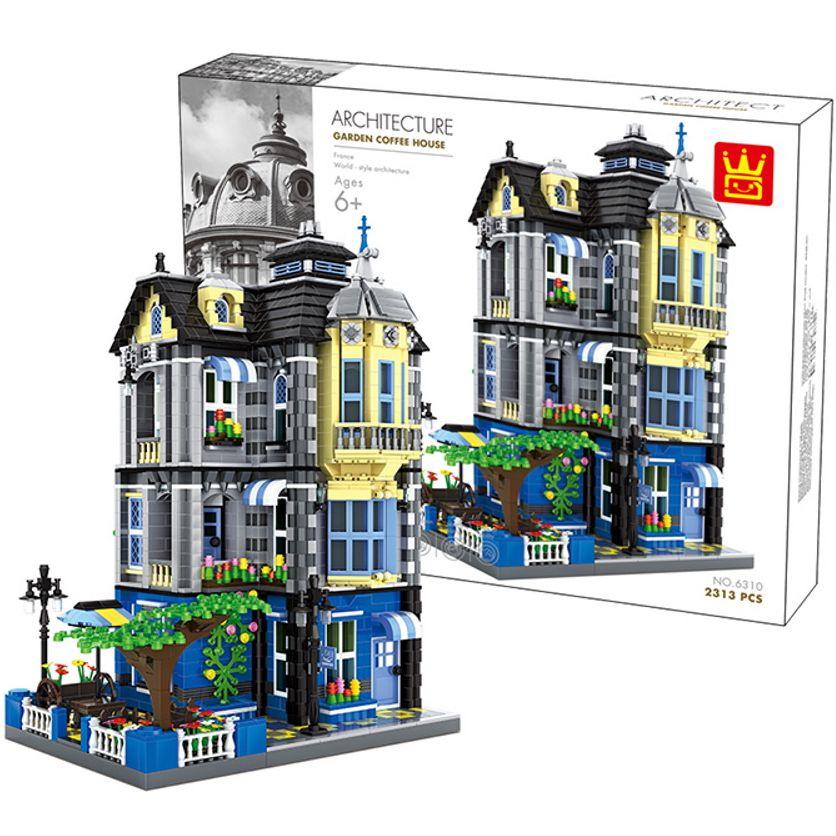 """[Klemmbausteine] Architekturset """"Garten Kaffeehaus"""" von Wange (6310) @ Bestbricks.de"""