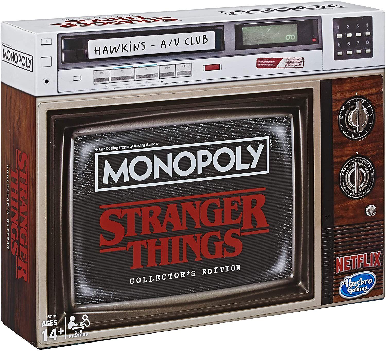 Monopoly Stranger Things Sammler-Edition Brettspiel ab 14 Jahren, englische Ausgabe [Amazon Prime & Mediamarkt Abholung]