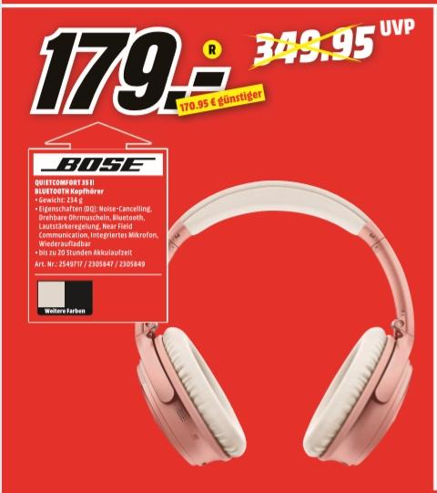 [Regional Mediamarkt Koblenz/Neuwied] Bose QuietComfort 35 II Wireless Funkkopfhörer, Geräuschunterdrückung für 179,-€ (3 Farben)