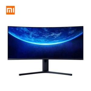 "Xiaomi 34"" Mi Curved Gaming Monitor (S-VA Panel, 300 Nits, 3.440x1.440, 21:9, 144Hz, 4ms, FreeSync Prem., 121% sRGB ) EU Versand"