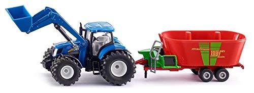 SIKU, New Holland Traktor mit Frontlader & Strautmann Futtermischwagen, 1:50 für 15,61€ (Amazon Prime & Media Markt Abholung)