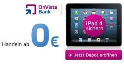 iPad Wi-Fi 16 GB gratis für Neukunden bei Eröffnung eines Depot bei OnVista Bank