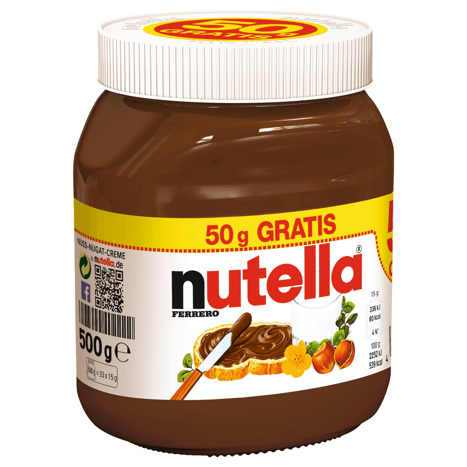 Nutella je 500g Glas für 1,79€ [Real]