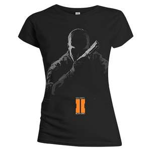 (Play.com) Call Of Duty Women's Black Ops 2 Prepared Soldier T-Shirt (Black) für 5,49 Euro