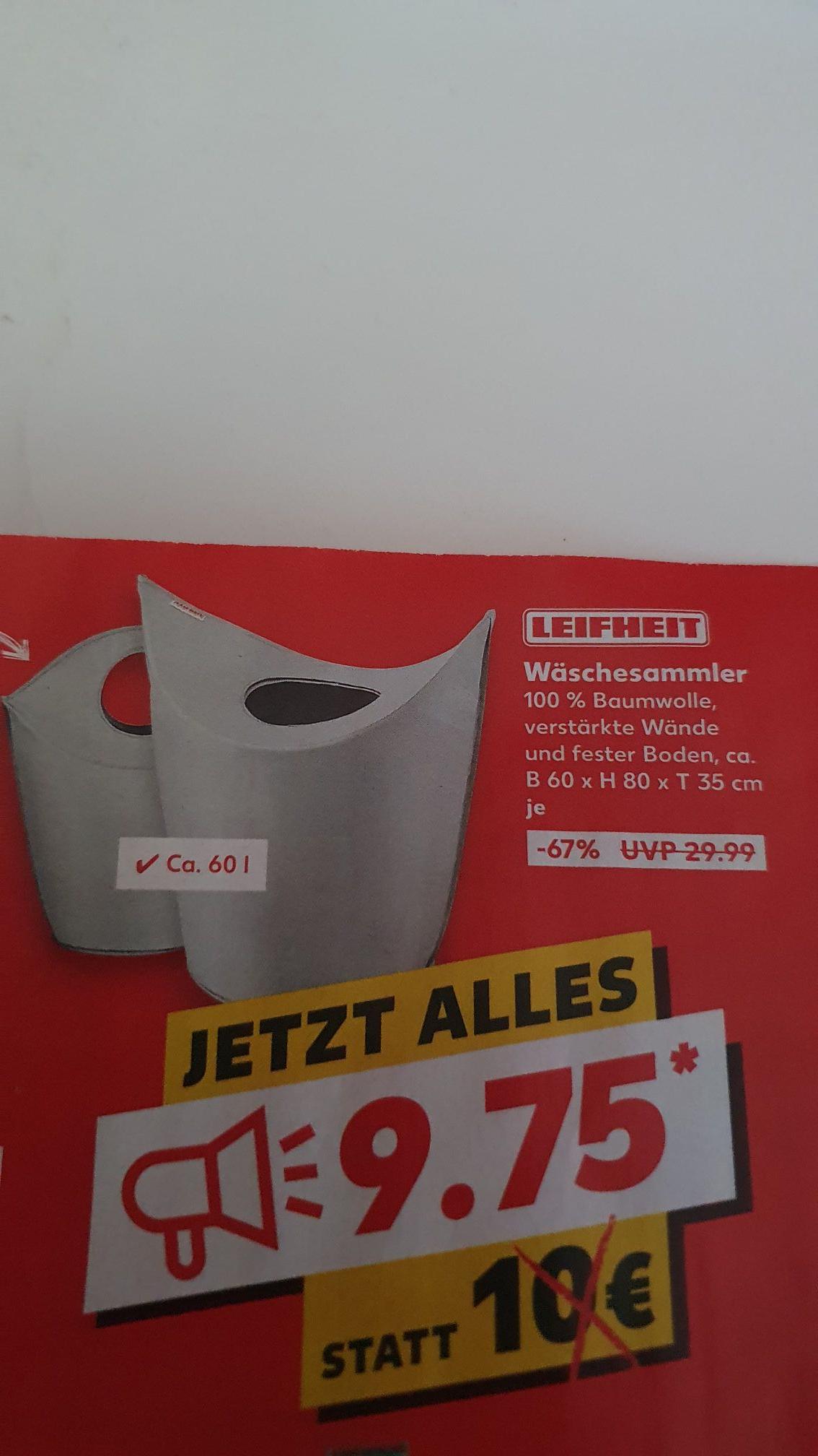 [Kaufland] Leifheit Wäschesammler 60l mit Tragegriffen für 9,75€
