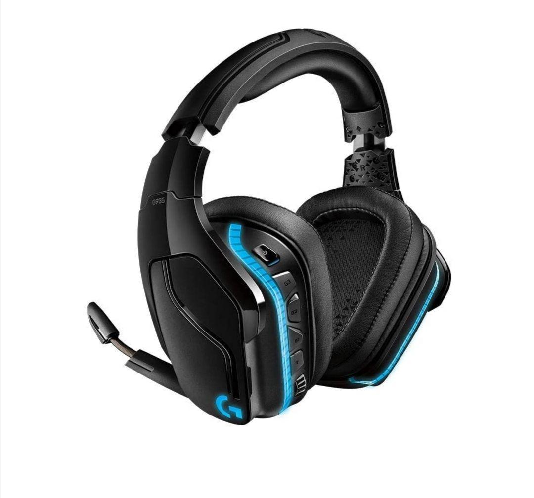 Logitech G935 kabelloses Gaming-Headset mit LIGHTSYNC RGB, 7.1 Surround Sound,
