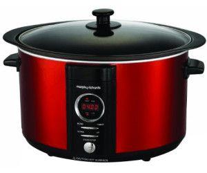 MORPHY RICHARDS 461011 Sear & Stew Slow Cooker Rot (Rührschüsselkapazität: 6,5 Liter, 240 Watt) [Mediamarkt Abholung]