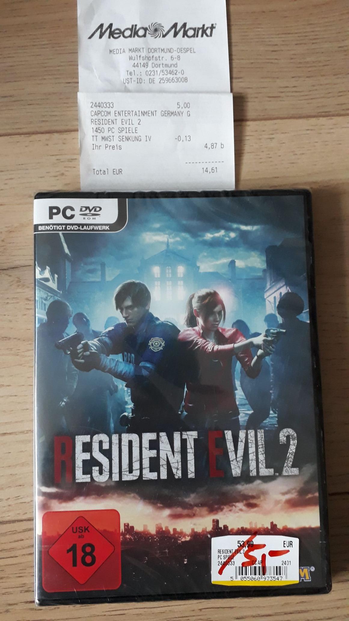 Resident Evil 2 (PC) - Lokal Mediamarkt Dortmund Kley
