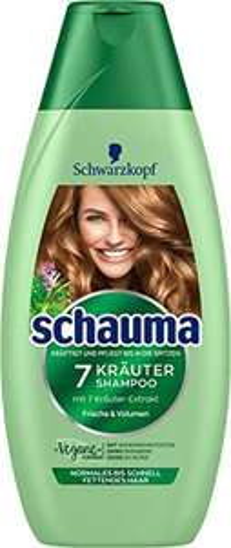 4 x 400ml SCHWARZKOPF SCHAUMA Shampoo 7-Kräuter [Amazon Prime Spar Abo]