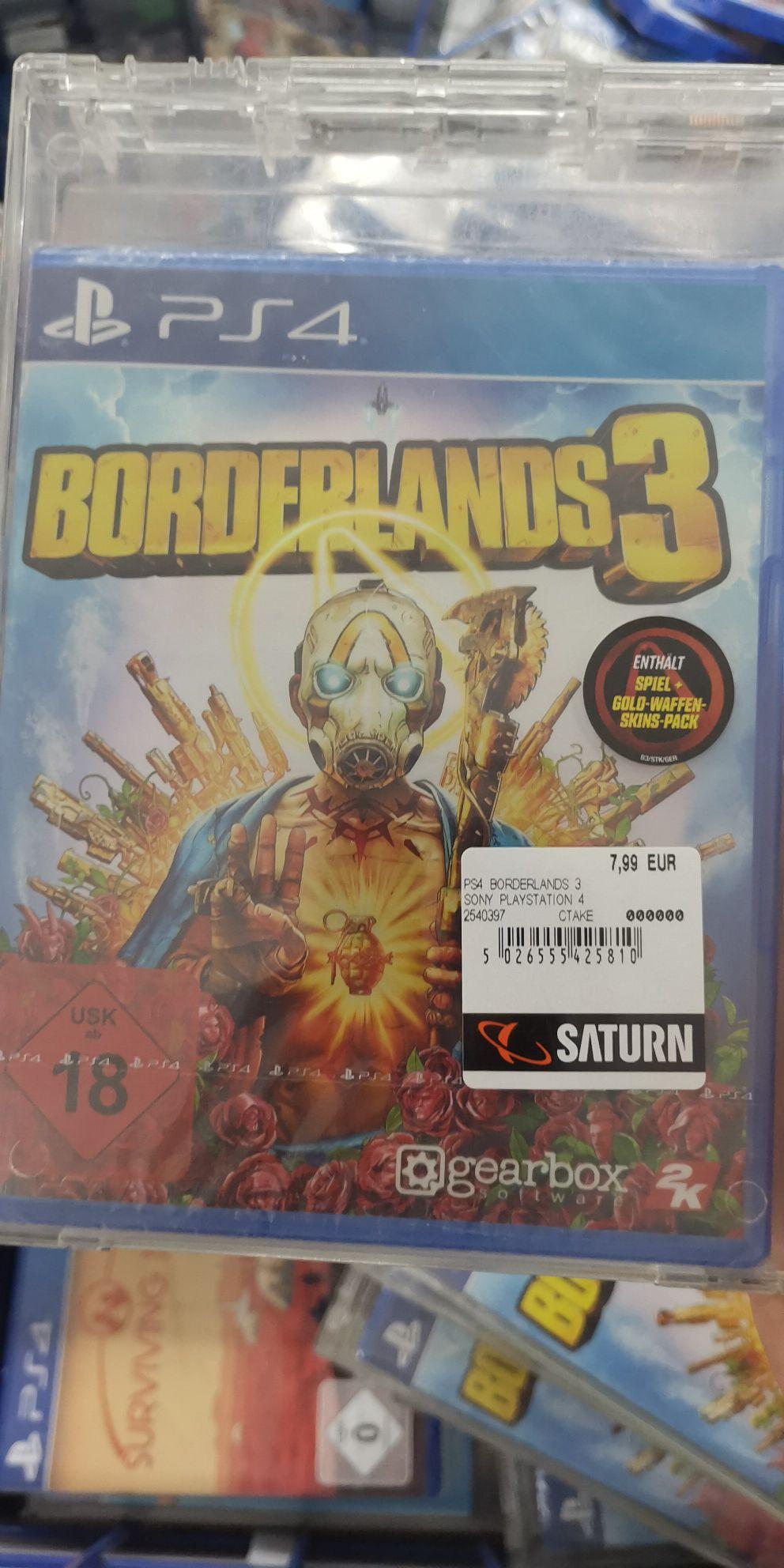 Lokal - Borderlands 3 PS4 für 7,99€ in Saturn Duisburg