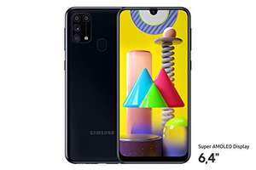 [Amazon] Samsung Galaxy M31 Smartphone, 4 Kameras, großer 6.000 mAh Akku, 6,4 Zoll Super AMOLED FHD+, 64GB/6GB RAM, 3 Farben