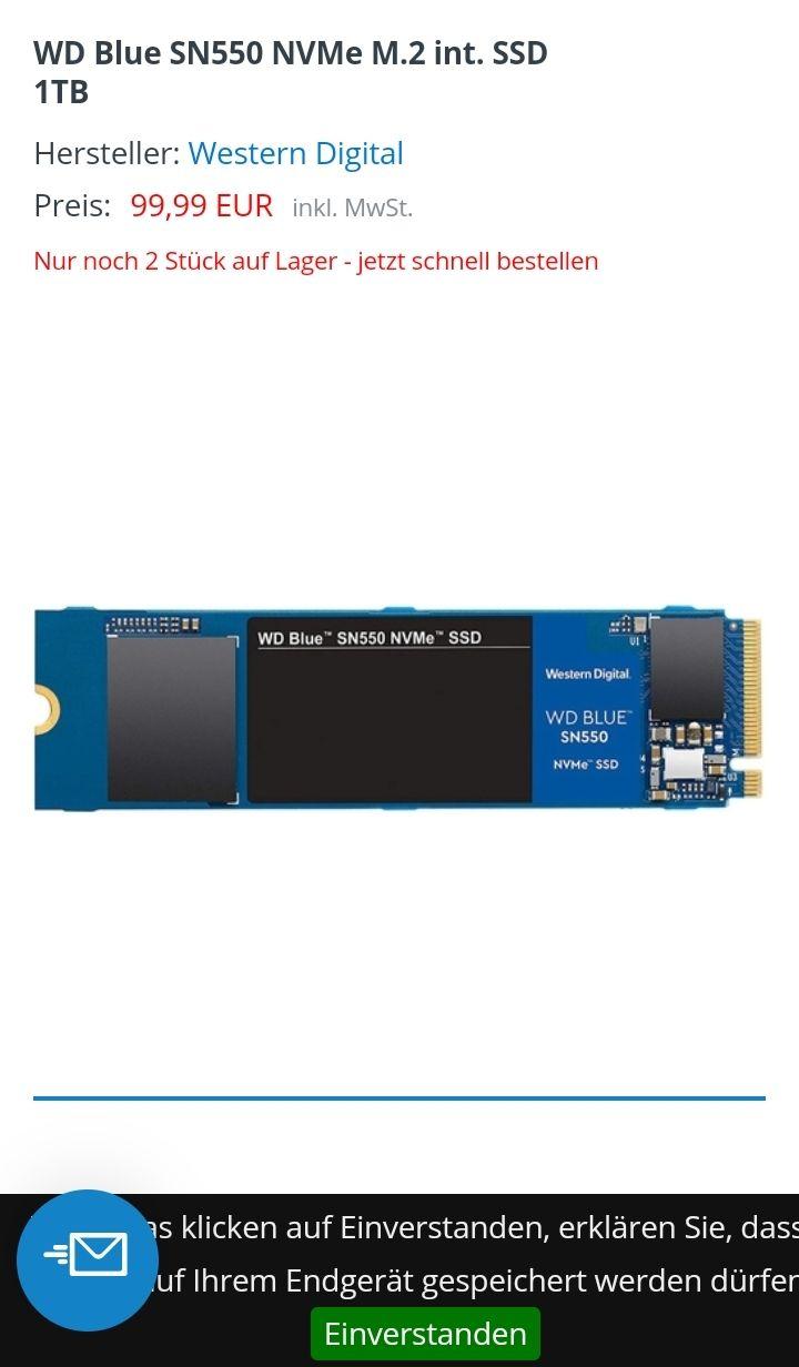 Western Digital Blue SN550 M.21TB