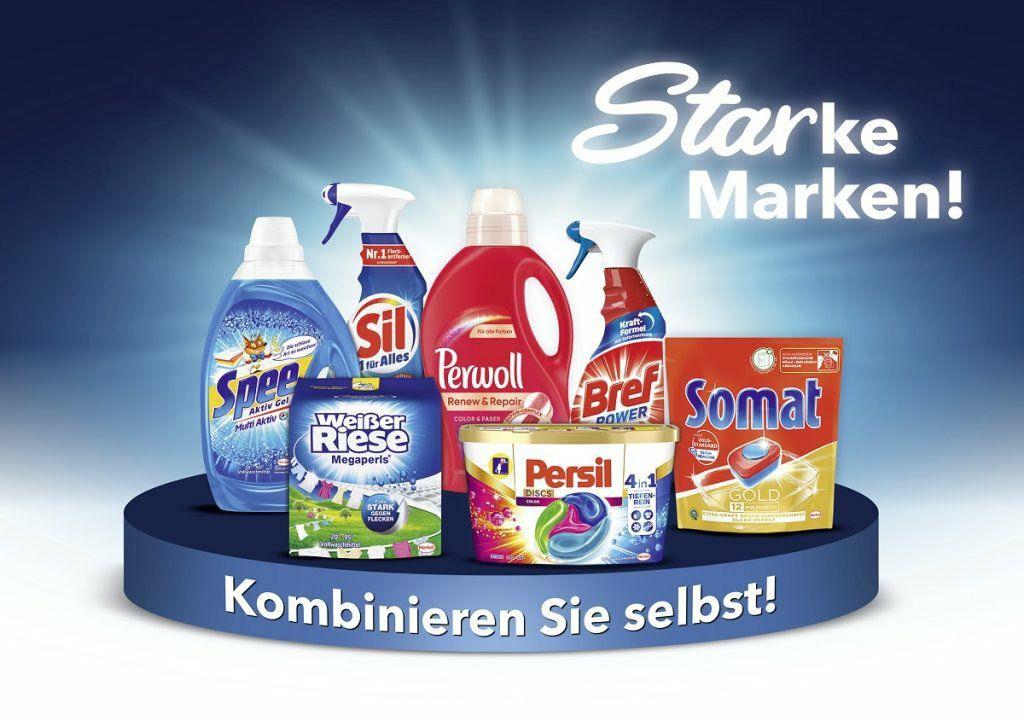 Persil / Spee / Weißer Riese / Perwoll / Sil / Somat und Bref - 4 kaufen, 4€ Rabatt [Penny]