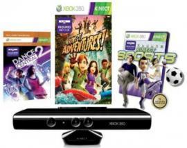 Microsoft Xbox 360 Kinect Sensor mit 3 Spielen für nur 89,95 EUR inkl. Versand!
