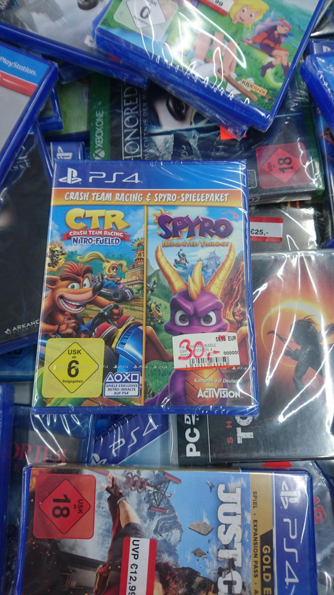 (Lokal MediaMarkt Koblenz) Crash Team Racing Nitro Fueled & Spyro Reignited Trilogy PS4