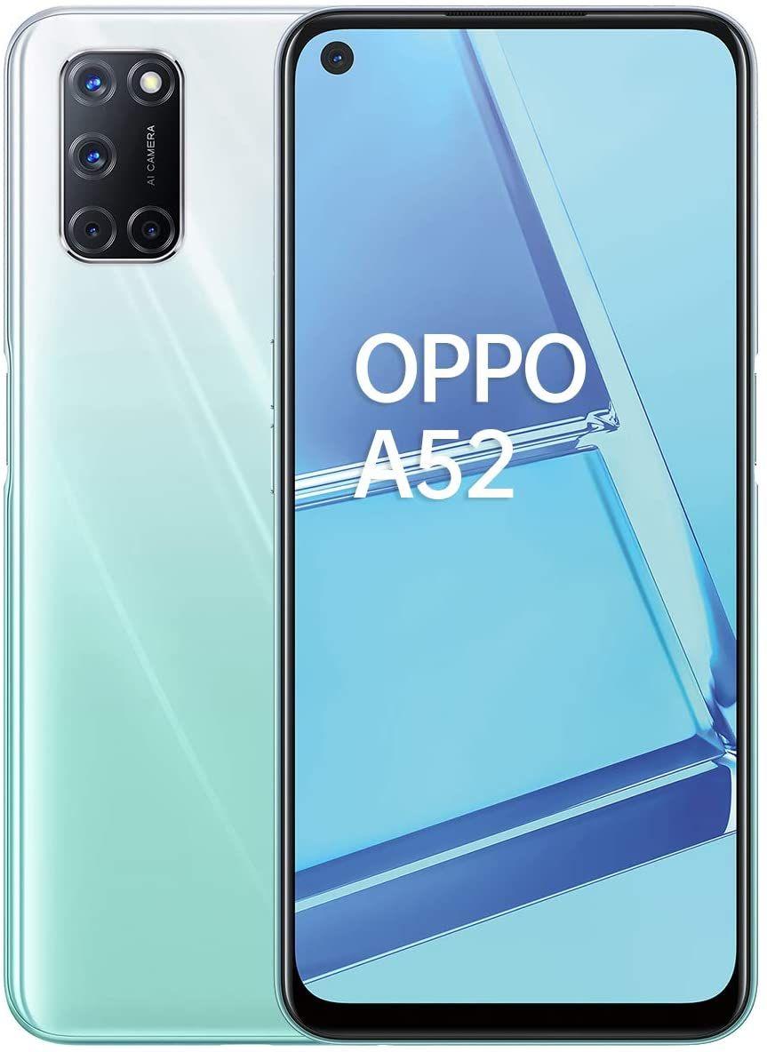 "Oppo A52 6,5"" Dual-SIM Smartphone 4/64GB (FHD+, 12 MP Quad-Kamera, 5.000 mAh, SD 665, LTE, USB-C) schwarz & weiß"