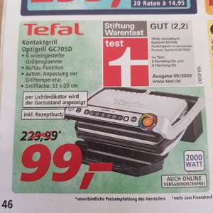 REAL - Tefal Optigrill GC705D