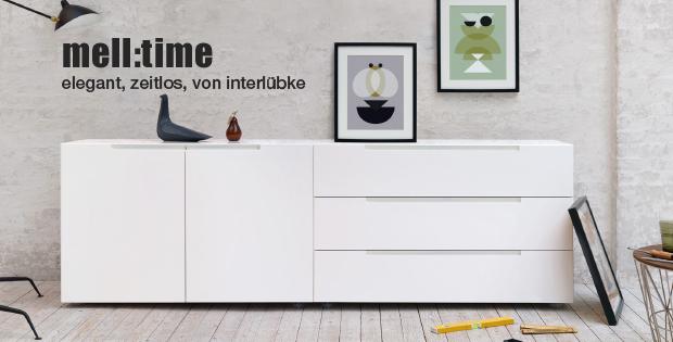 Interlübke Sideboard/Kommoden Serie mell time, matt weiß, große Auswahl an Modellen [wohn-design.com]
