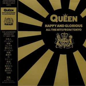 Queen - Happy And Glorious - All The Hits From Tokyo - Limited Edition Inca Gold Vinyl