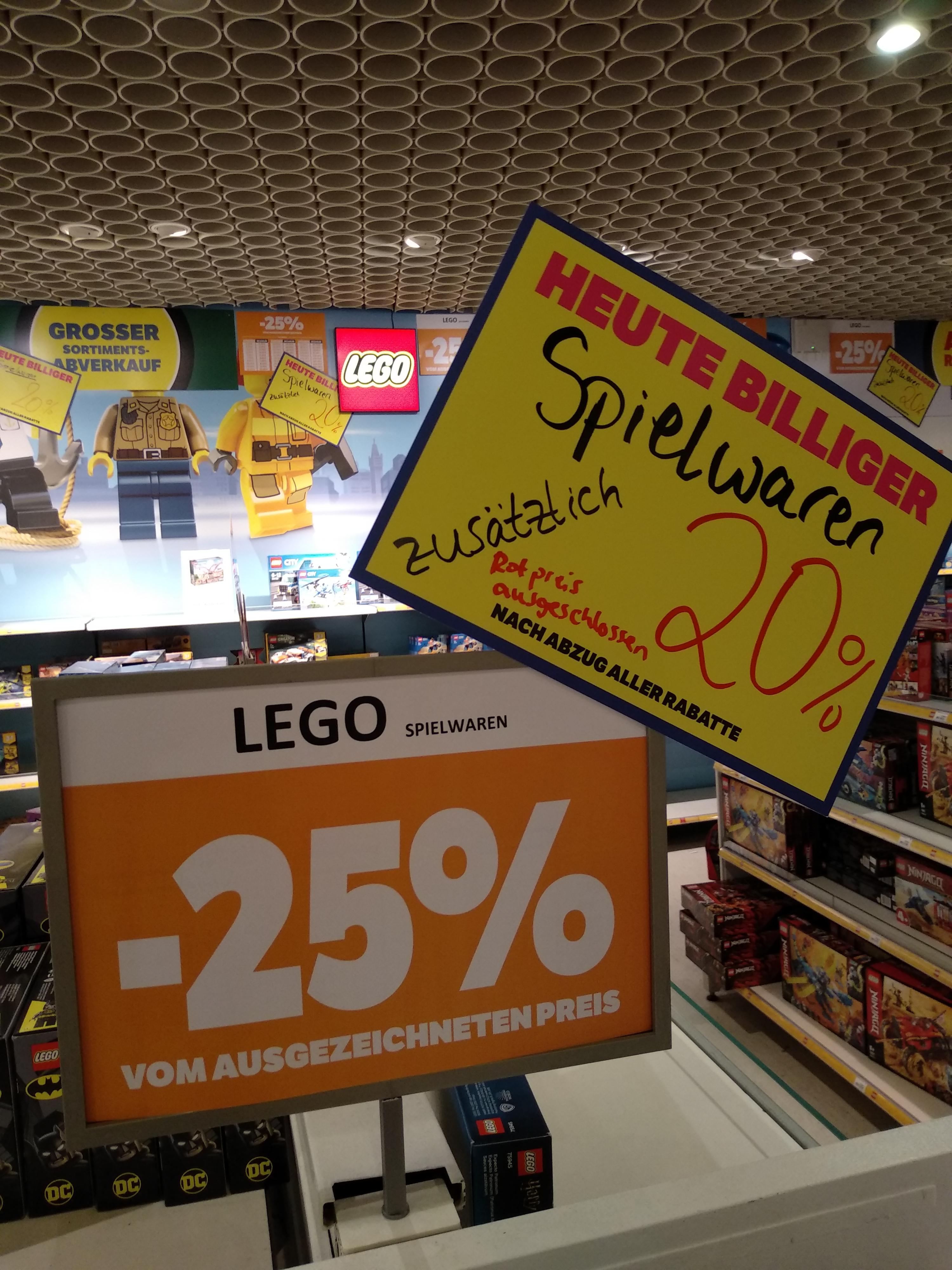 (Lokal Worms Kaufhof) 40% auf Lego