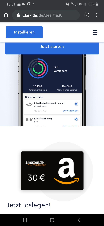 30€ Amazon Gutschein mit Clark