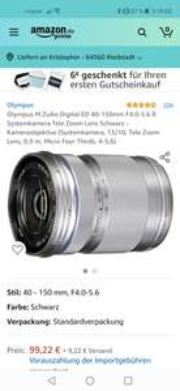 Olympus M.Zuiko Digital ED 40-150mm F4.0-5.6 R