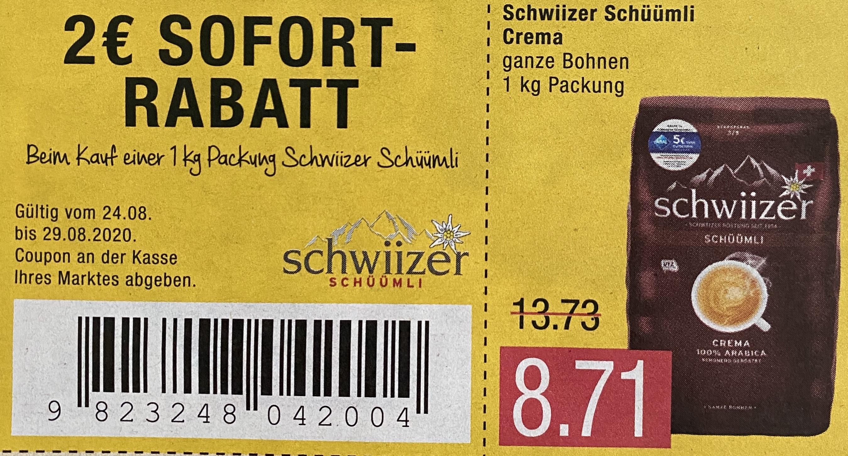 [Marktkauf / Edeka]Schwiizer Schüümli Crema 1kg Packung für 6.71€ durch Sofortrabatt | Snyder's Pretzel Pieces Sweet and Salty 1.27€