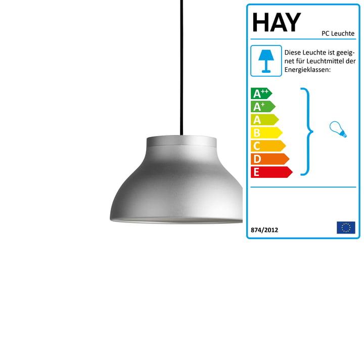 HAY PC Pendelleuchte, Design: Pierre Charpin, Aluminium, Ø 25 cm [connox]