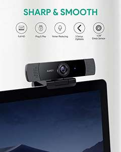 [Amazon] AUKEY Webcam 1080p Full HD with Stereo Microphone Web Camera