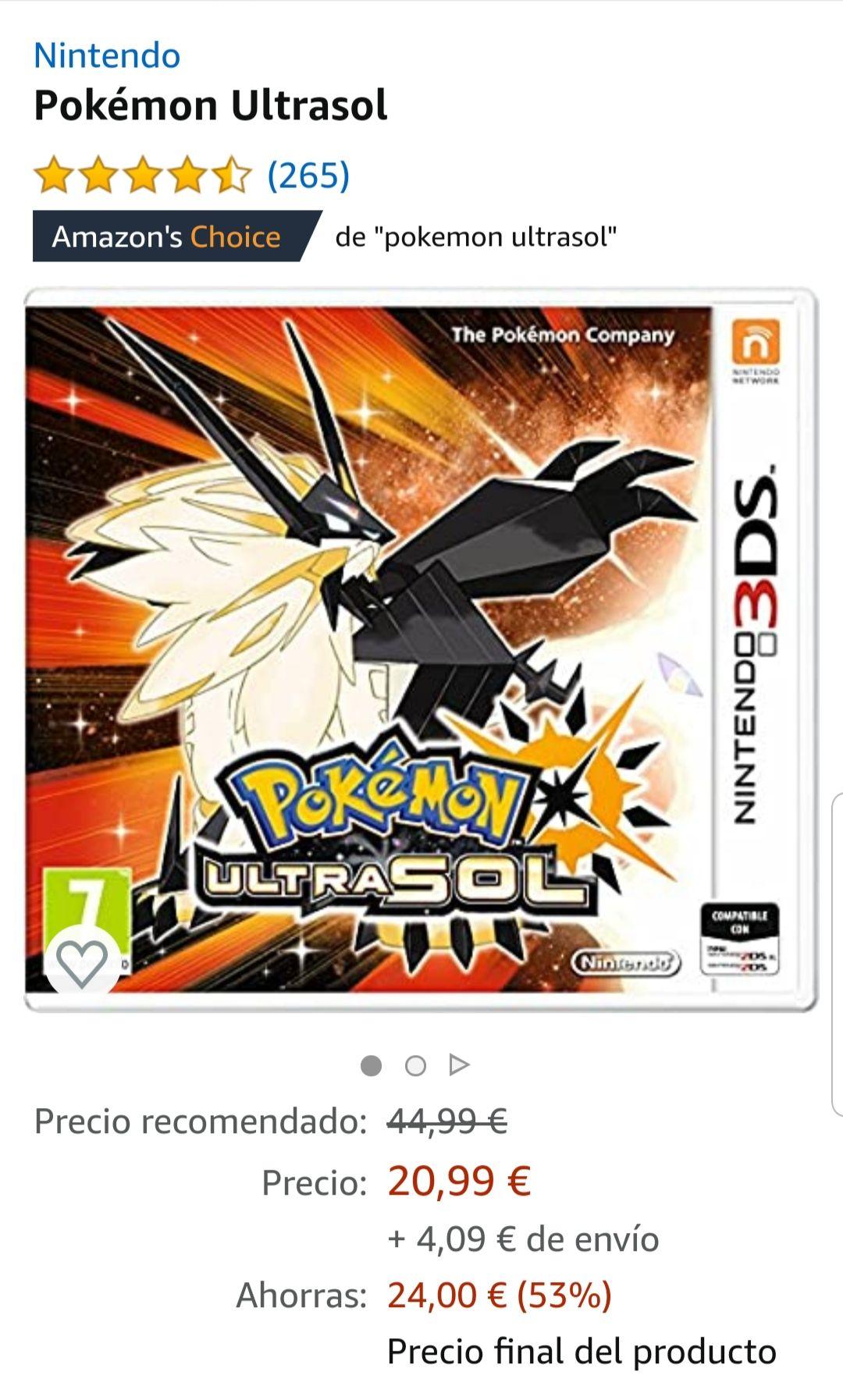 Pokémon ultrasonne Amazon Spanien