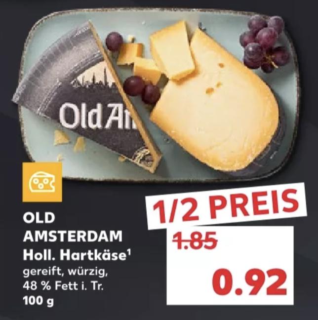 Old Amsterdam Hartkäse 100g für 0,92€ [Kaufland]