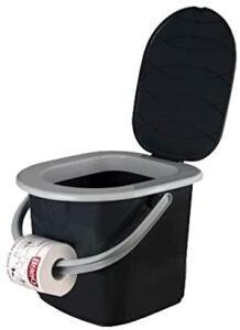 Toilette (22 Liter) für den mobilen Einsatz oder als Gäste-WC für 12,99 Euro / Sanitärflüssigkeit für 6,99 Euro [Zimmermann-Filiale]