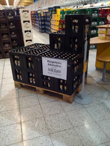 Lokal Rewe Kiste Bürgerbräu Alkoholfrei 2,22€