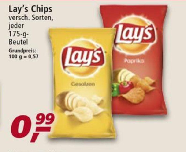 Bundesweit Real/Penny - Lays Chips verschiedene Sorten für 0,99€