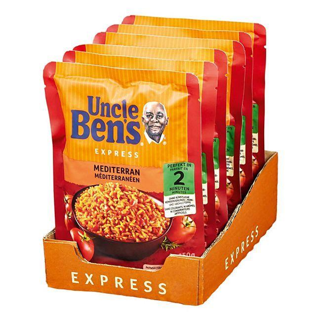 Uncle Ben's Express-Reis verschiedene Sorten, 6 Packungen (6 x 250g) pro Pack. 0,94€ - Prime*Sparabo*
