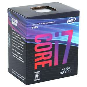 Intel Core i7-8700 BOX, 3.2GHz/4.6GHz, Sockel 1151v2