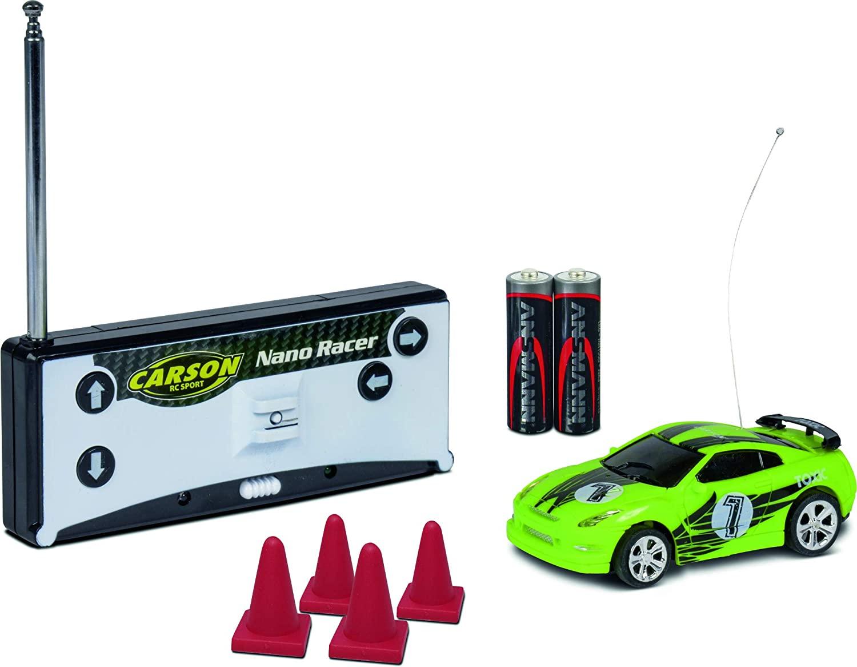 CARSON - 1:60 Nano Racer Toxic 27MHz 100% RTR, RC Fahrzeug, inkl. Batterien & Fernsteuerung für 9€ (Müller Abholung)