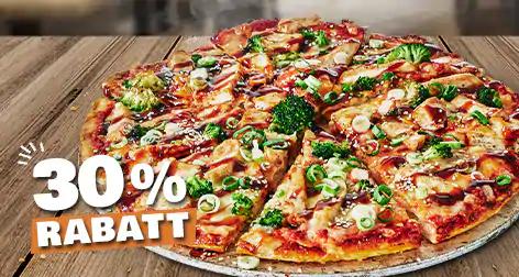 30% Rabatt auf eine Domino's Pizza (Lieferung oder Abholung)