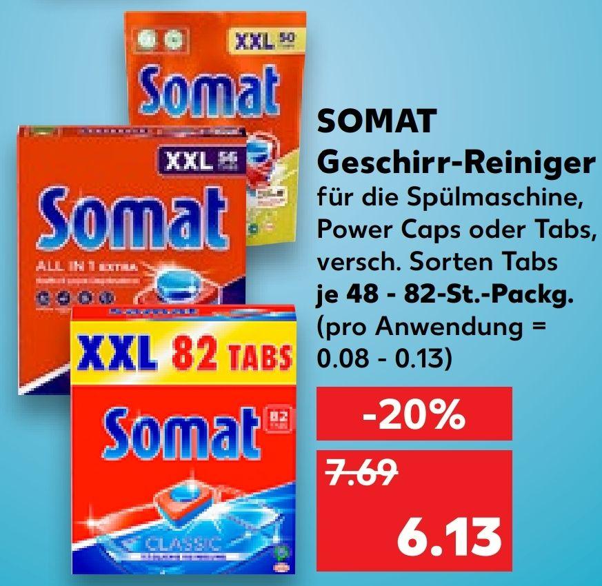 [Kaufland Do-Mi] 2x Somat XXl Geschirr-Reiniger mit Coupon für 9,26€