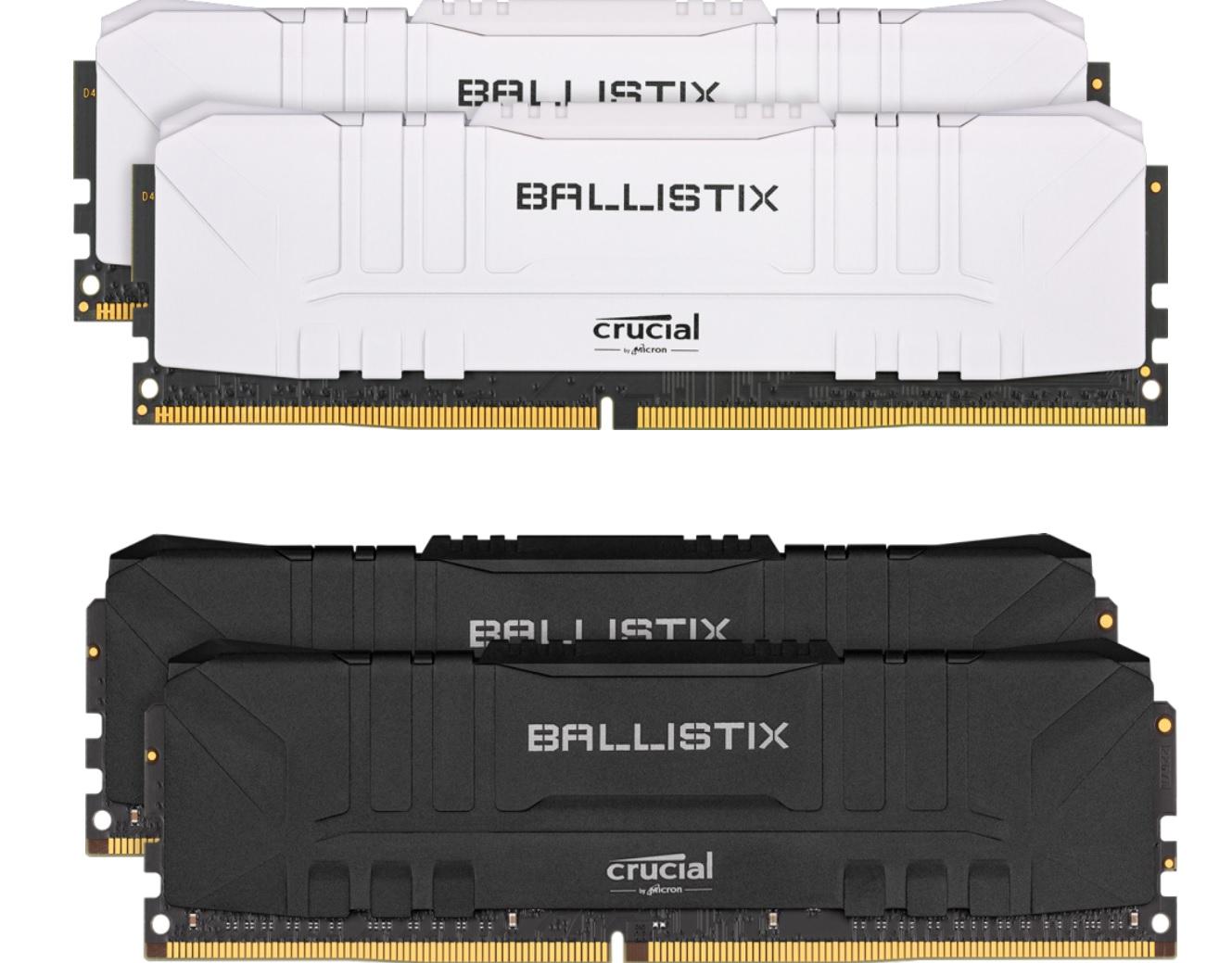 Kit Memory Crucial Ballistix DDR4 16 GB (2 x8 GB) - 3600 Mhz, CL16, Schwarz oder weiß
