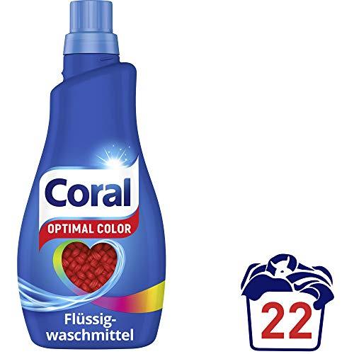 Coral Waschmittel - Color Flüssigwaschmitte - 1,1 l - VK-Frei [Prime]